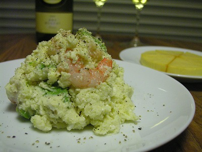 アボカドと海老のクリーミーポテトサラダ