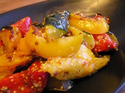 夏野菜のマスタードマリネ