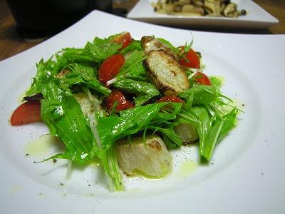 水菜と長いものサラダ