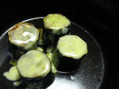 ズッキーニのチーズかけ