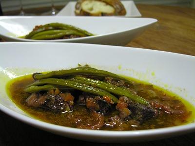 牛肉とインゲンのシチュー