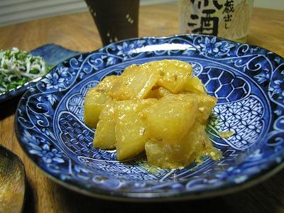 クミン風味の大根味噌煮