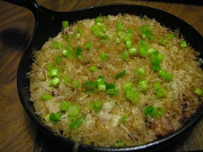 大和芋とゲソの鉄板焼