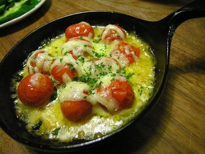 プチトマトのチーズ焼