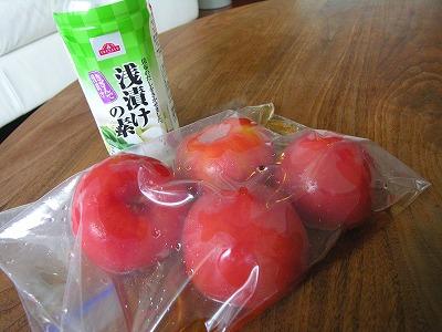 トマトの浅漬け