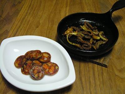 サラミとミミガー燻製