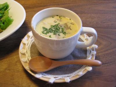 ポルチーニのクリームスープ