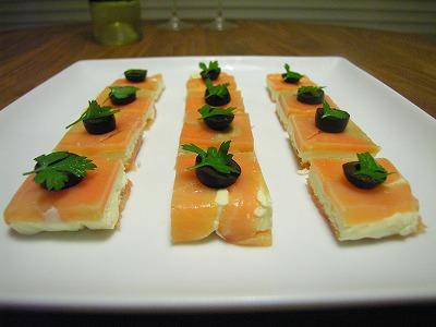 サーモンクリームチーズサンド
