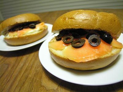 サーモンとクリームチーズのベーグル