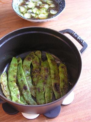 モロッコいんげんバター焼き