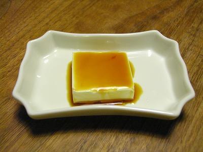 クリームチーズ 梅醤油かけ