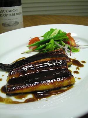 鰻のバルサミコソース