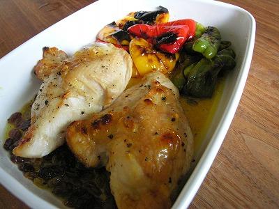 鶏とピーマンのグリルマリネ