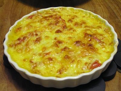 トマトのチーズグラタン