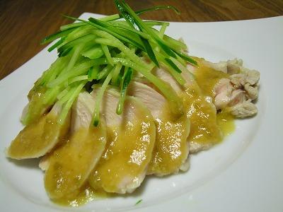 ゆで鶏 梅味噌