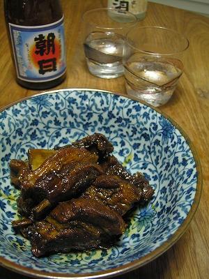 スペアリブの黒糖煮