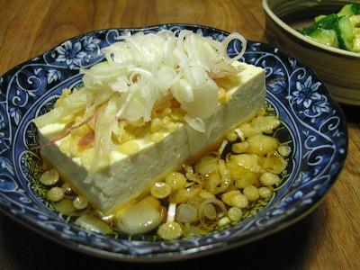 冷やしたぬき豆腐