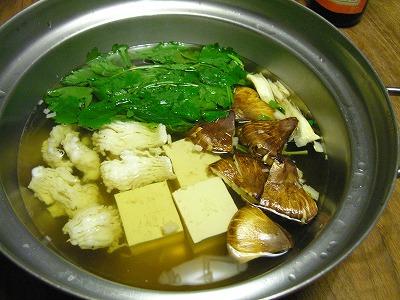 松茸と鱧鍋