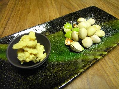 豆酩と銀杏