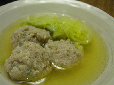 白菜山椒鶏だんご鍋