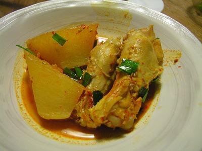 鶏手羽と大根のキムチ鍋