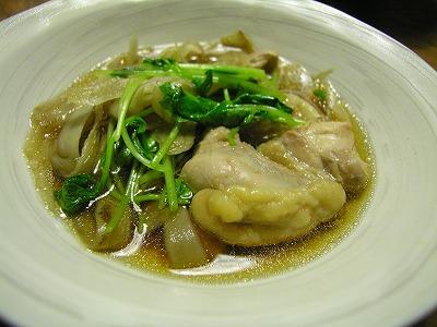 鶏とごぼうと三つ葉の鍋