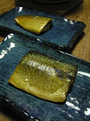 塩鯖のスモーク