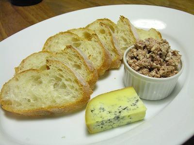 テリーヌと青かびチーズ