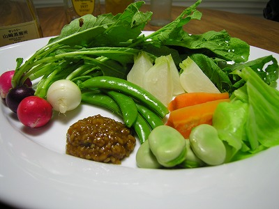温野菜とあけがらし