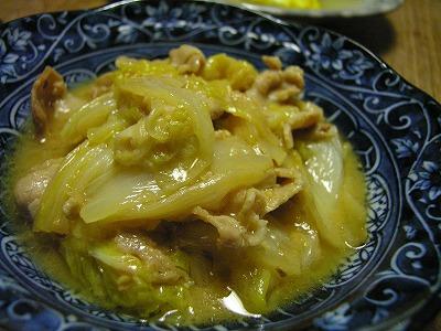 白菜と豚のクミン味噌煮