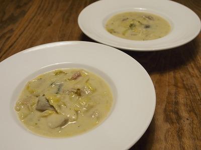 白菜と里芋のクリームシチュー